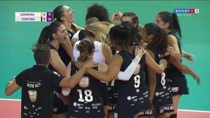 Melhores momentos: Londrina 2 x 3 Curitiba pela decisão da Superliga B de vôlei feminino