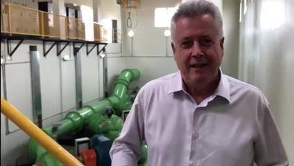 Em inauguração de obra, Rollemberg fala sobre o fim do racionamento de água no DF