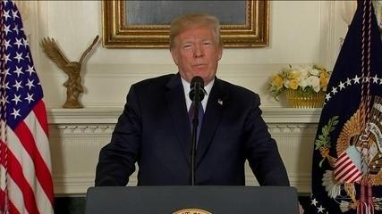 Donald Trump diz que 'missão está cumprida' após ataque à Síria
