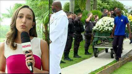 Corpo de PM morto em Niterói, RJ, é enterrado