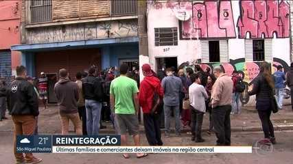 Últimas famílias e comerciantes deixam imóveis na região da Cracolândia