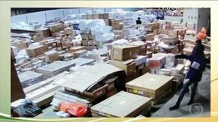 Assaltantes roubam lote milionário de celulares no Aeroporto Tom Jobim, no RJ