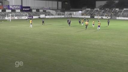 Confira os gols de Santa Cruz 1 x 1 Pelotas, pela Divisão de Acesso