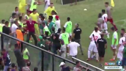 Samuel dança antes de marcar gol do Flu na final da Taça Rio