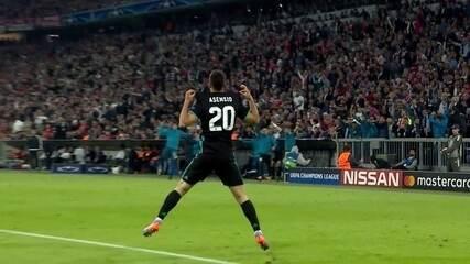Veja o gol de Ansensio, que deu a vitória ao Real Madrid contra o Bayern