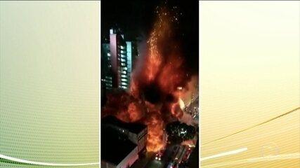 Veja a cronologia do incêndio no edifício do centro de São Paulo
