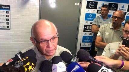 Presidente do Grêmio critica arbitragem do Gre-Nal e detona D'Alessandro: 'Arruaceiro'