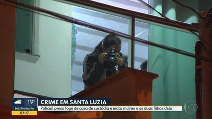 Policial civil é suspeito de matar uma mulher e duas filhas dela em Santa Luzia