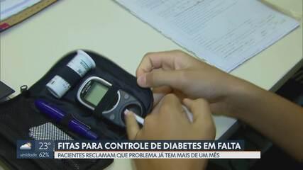 Fitas para controle de diabetes estão em falta