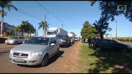 VÍDEO: Bloqueio na PR-317, em Maringá, no norte do Paraná