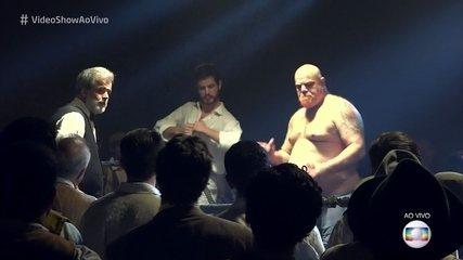 """Maurício Destri mostra suas habilidades no ringue para matéria no """"Vídeo Show"""""""