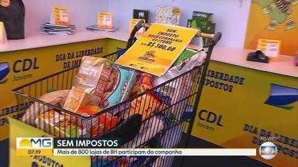 Mais de 800 lojas em Belo Horizonte participam do Dia da Liberdade de Impostos