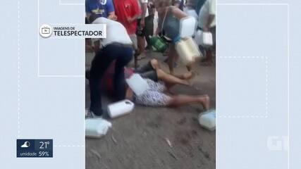 Motoristas trocam socos em briga por gasolina em posto do Gama, no DF