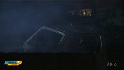 Incêndio atinge pátio de Detran na BR-369, em Londrina