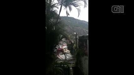 Moradores registram forte tiroteio na comunidade da Rocinha