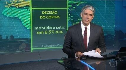 Em junho, Copom manteve Selic em 6,5% ao ano; se previsão de economistas se confirmar, taxa de juros será mantida nesta quarta-feira