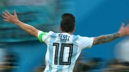 Messi tirou o zero do placar em jogo decisivo contra a Nigéria na Copa de 2018