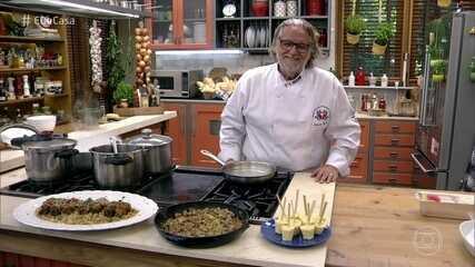 Toque do Ravioli: aprenda a fazer Bife à Rolê e Sorvete de Milho
