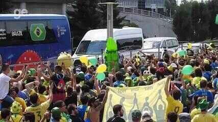 Canarinho Pistola rege a torcida em música que provoca CR7 e Messi, e exalta Neymar