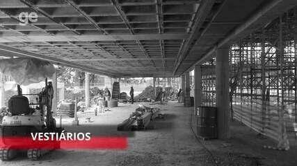 Ge.com faz tour pela obras do novo módulo profissional do Flamengo