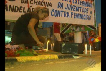 Em Altamira, mães do xingu fez uma vigília para lembrar os 25 anos da chacina na candelári