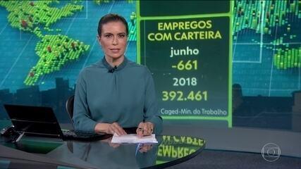 Economia brasileira fecha 611 vagas com carteira assinada em junho