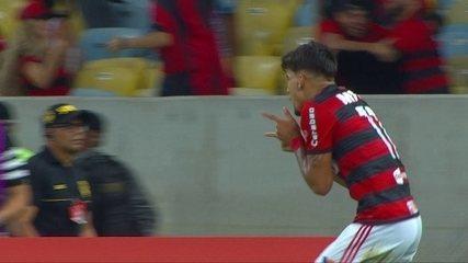 Gol do Flamengo! Paquetá pega o rebote e amplia o placar, aos 7' do 1º tempo