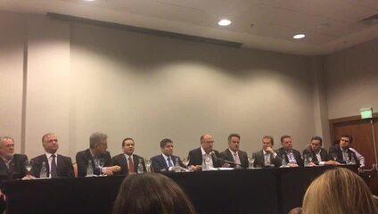 Geraldo Alckmin fez discurso no evento em que o 'Centrão' anunciou apoio à sua candidatura