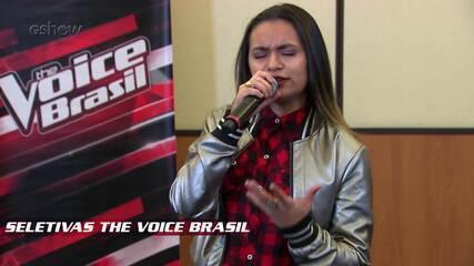 Confira vídeo exclusivo de Thailla Lima na seletiva do The Voice Brasil