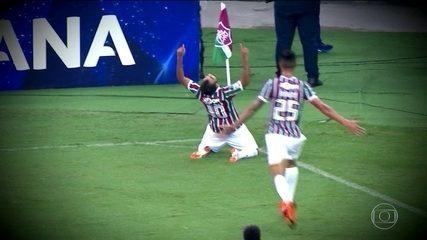 Sornoza brilha com belo gol olímpico na vitória do Fluminense sobre o Defensor-URU