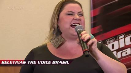 Confira vídeo exclusivo de Renata Versolato na seletiva do The Voice Brasil