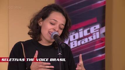 Confira vídeo exclusivo de Sarah Renata na seletiva do The Voice Brasil