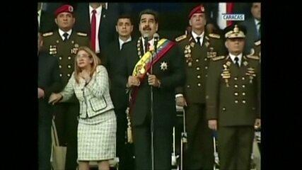 Explosão interrompe ato onde Nicolás Maduro discursava
