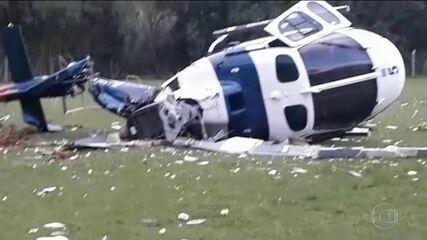 Helicóptero com governador do ES tomba ao tentar pousar