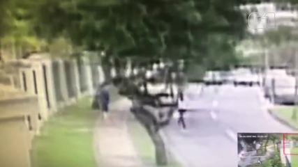 Câmera de segurança registra momento em que mulher é assassinada na Barra