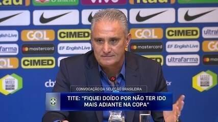 """Tite fala sobre Mundial da Rússia: """"Fiquei doído por não ter ido mais adiante na Copa"""""""