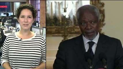 Ex-secretário-geral da ONU Kofi Annan morre aos 80 anos