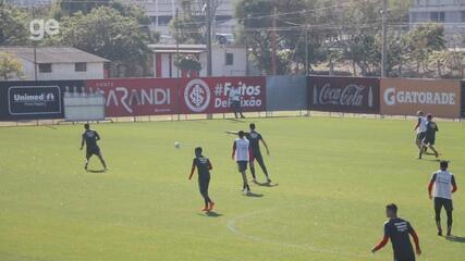 Damião volta a treinar com bola e se credencia a ficar à disposição contra o Cruzeiro