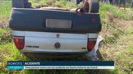 Acidente deixa uma mulher morta em São Antônio do Caiuá