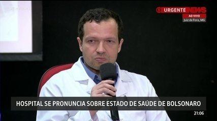 Internação de Bolsonaro deve durar pelo menos uma semana, diz médico