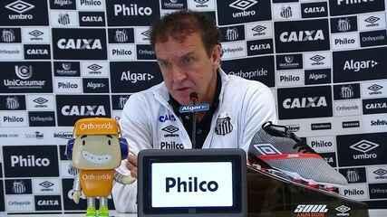 Veja a entrevista do técnico Cuca após o empate do Santos com o Grêmio