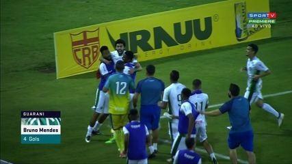 GOL do Guarani! Bruno Mendes empata a partida, aos 33' do 2T