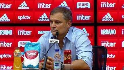 Aguirre concede entrevista coletiva após vitória do São Paulo sobre o Bahia