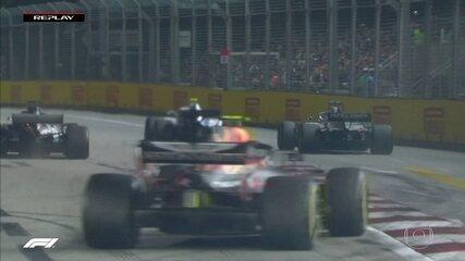 Reveja lambança de Grosjean durante GP de Cingapura