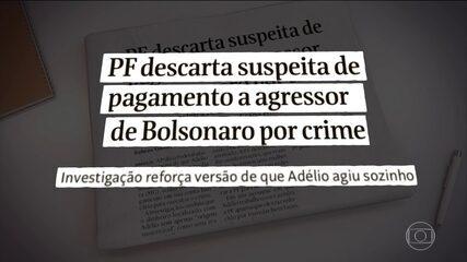 Autor de atentado contra Bolsonaro agiu por conta própria, diz Polícia Federal