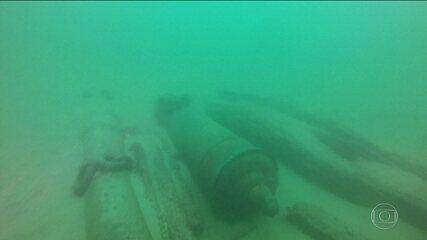Arqueólogos encontram navio de 400 anos em Portugal