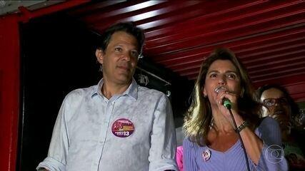 Candidato do PT, Fernando Haddad, faz campanha em São Paulo e em Campinas