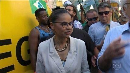Candidata da Rede, Marina Silva, fez campanha no Rio de Janeiro