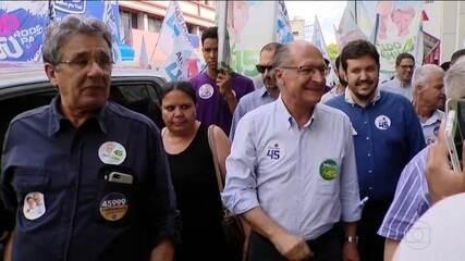 Candidato do PSDB, Geraldo Alckmin, fez campanha em Minas Gerais