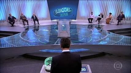 Debate reúne sete candidatos à Presidência da República nos Estúdios Globo